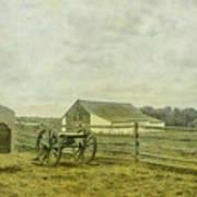Mcpherson Barn And Cannon Gettysburg  Art Print