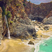 Mcway Falls On The California Coast Art Print