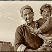 Me And Grandpa, Iran  Art Print