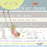 Me And Mr. Moon Art Print