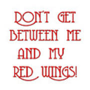 Me And My Red Wings 1 Art Print