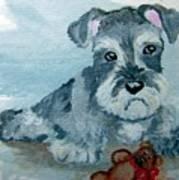 Me And My Teddy Art Print