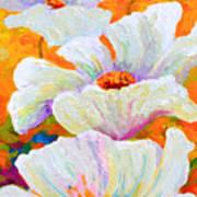 Meadow Angels - White Poppies Art Print