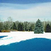 Meadow Snow Art Print