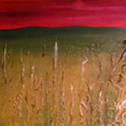 Meadows Autumn Sunset  Art Print