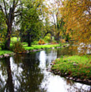 Meandering Creek In Autumn Art Print