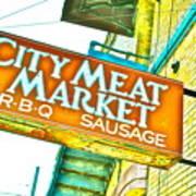 Meat On The Market Art Print