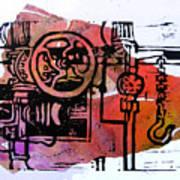 Mech Heating Up Art Print by Adam Kissel