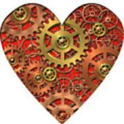 Mechanical Heart Art Print