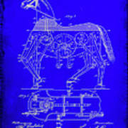 Mechanical Horse Patent Art 1b           Art Print