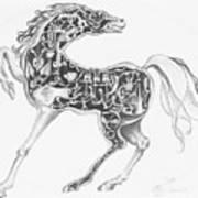 Mechanical Horse Art Print