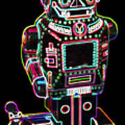 Mechanical Mighty Sparking Robot Art Print