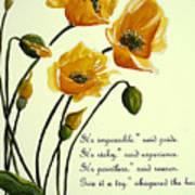 Meconopsis  Poem Art Print