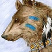 Medicine Bear Art Print by Brandy Woods