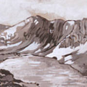 Medicine Bow Peak Historical Vignette Art Print