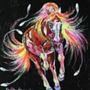 Medicine Fire Pony Art Print
