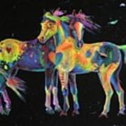 Medicine Ponies Art Print