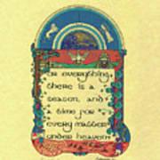 Medieval Fall Harvest Art Print