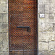 Medieval Florence Door Art Print