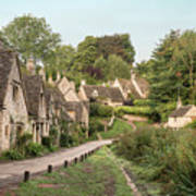 Medieval Houses In Arlington Row In Cotswolds Countryside Landsc Art Print