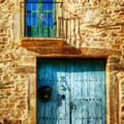 Medieval Spanish Gate And Balcony - Vintage Version Art Print