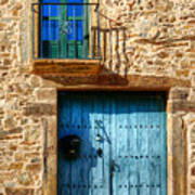 Medieval Spanish Gate And Balcony Art Print