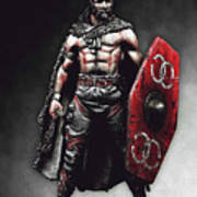 Medieval Warrior - 13 Art Print