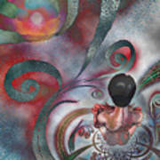Meditating Life Universe And Beyond Art Print