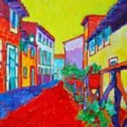 Mediterranean Cityscape Art Print