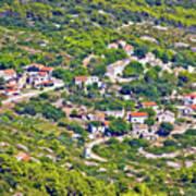 Mediterranean Village On Island Of Vis Art Print