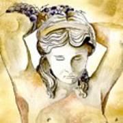 Meditrina Goddess Of Wine Art Print