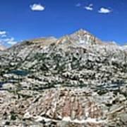 Medley Lake Basin Panorama From High Above - Sierra Art Print