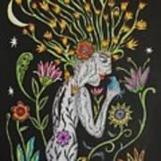 Medusa De Flores Art Print