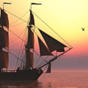 Medusa Sailing Ship Art Print