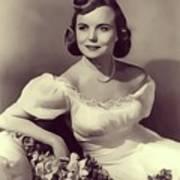 Meg Randall, Vintage Actress Art Print