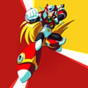Mega Man X Art Print