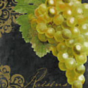 Melange Green Grapes Art Print