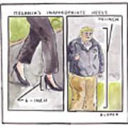 Melania's Inappropriate Heels Art Print