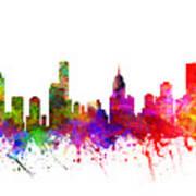 Melbourne Australia Cityscape 02 Art Print