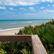 Melbourne Beach In Florida Art Print