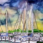 Melbourne Florida Marina Art Print