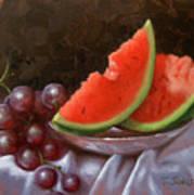 Melon Slices Art Print