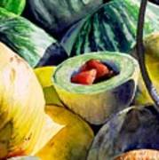 #18 Melons Plus Art Print