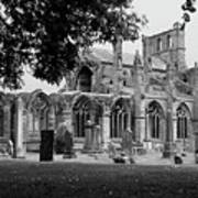 Melrose Abbey  Art Print