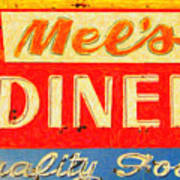 Mels Diner Art Print by Wingsdomain Art and Photography
