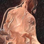 Melted Wax Model Art Print