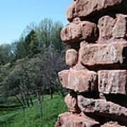 Melting Brick Wall Art Print