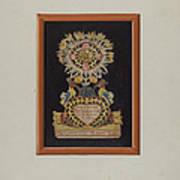 Memorial-pennsylvania Fractur And Cut-out Commemorating Jacob Bauer Art Print