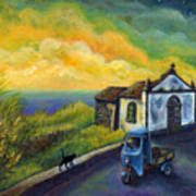 Memories Neath A Yellow Sky Art Print