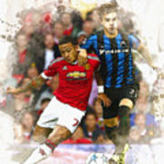 Memphis Depay Of Manchester United In Action Art Print